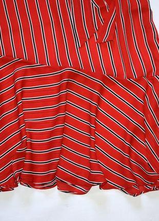 Червоне плаття міді в смужку10 фото