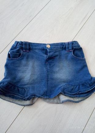 Юбочка джинсовая, кофточка в подарок