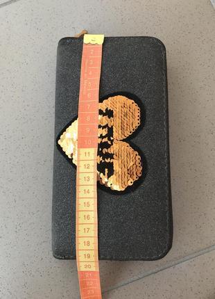 Бумажник, гаманець, кошелек, с паетками, антистрес9 фото