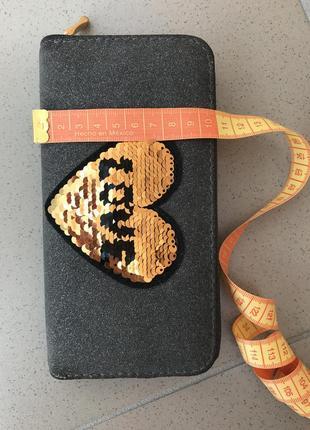 Бумажник, гаманець, кошелек, с паетками, антистрес10 фото