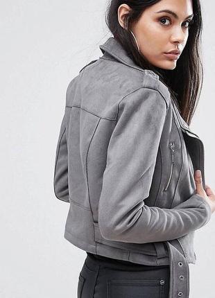 Куртка косуха из эко замши
