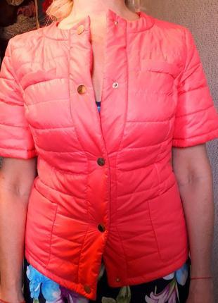 Весенняя куртка с коротким рукавом