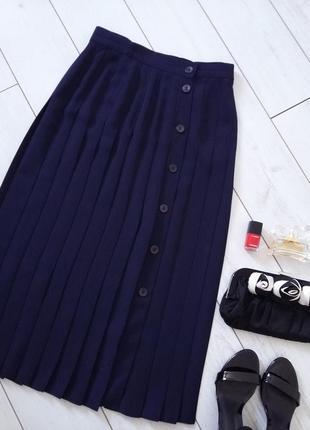 Изумительная юбка миди  в складки / плиссе на пуговицах