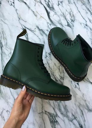 Оригинальные ботинки от dr.martens 1460 green smooth