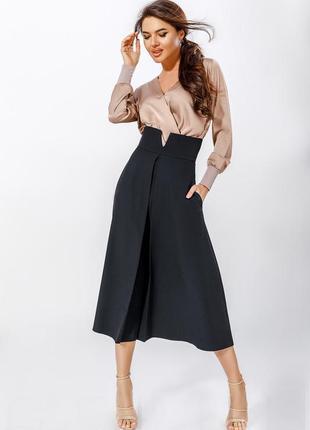 Черная расклешенная юбка asos миди