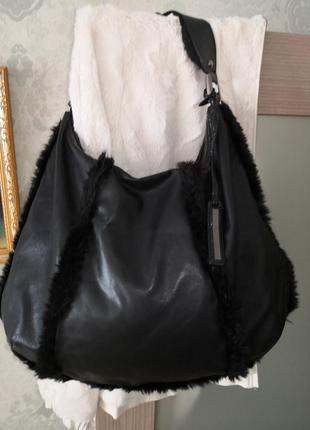 Шикарная брендовая кожаная сумка kenneth cole, new york
