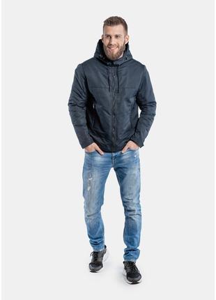Демисезонная куртка casual синяя2 фото
