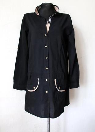 Короткое платье или удлиненная рубашка burberry