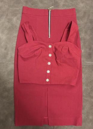 Костюм, юбка + топ, комплект