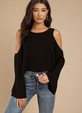Топ блуза кофточка с вырезами на плечах quiz