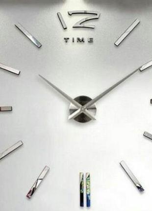 Настенные зеркальные часы 3d
