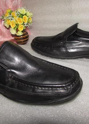 Кожаные туфли мокасины~ marks & spencer ~  man ,в идеале р 43