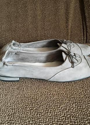 Kennel & schmenger серые замшевые балетки туфли мокасины