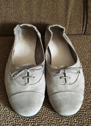 Kennel & schmenger серые замшевые балетки туфли мокасины8 фото