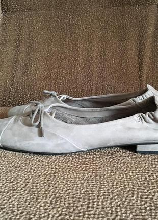 Kennel & schmenger серые замшевые балетки туфли мокасины6 фото