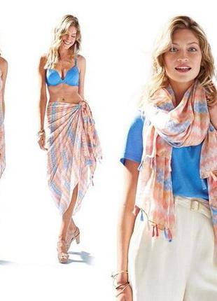 Большое нежное парео - платок-шарф ● tcm tchibo германия 110х200