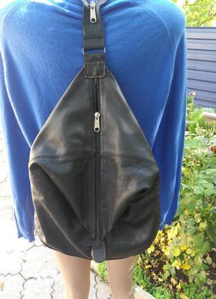 Крутой рюкзак из натуральной кожи2 фото