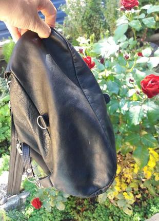 Крутой рюкзак из натуральной кожи4 фото