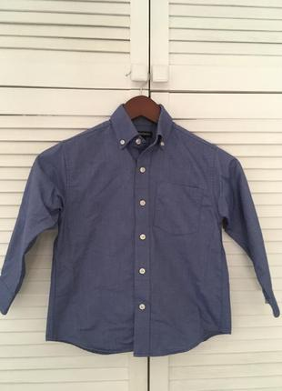 Школьная рубашка lands end  5-7лет