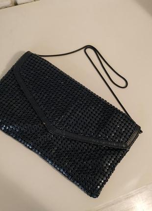 Красивый темно-синий клатч, сумочка, необычный дизайн