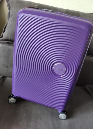 Новый легкий и прочный чемодан для ручной клади american tourister
