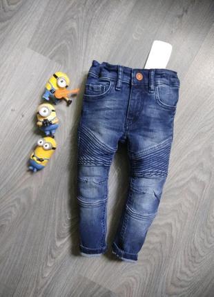 92р h&m джинсы узкачи байкеры