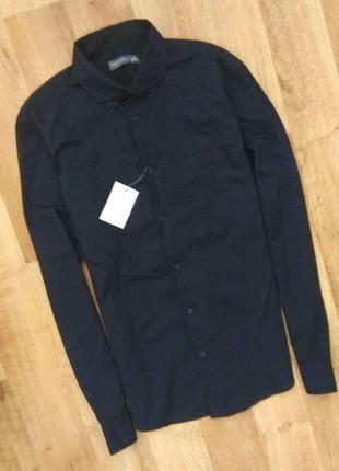 Новая с бирками мужская брендовая черная рубашка, m,xl размеров.