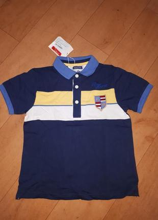 Новая футболка поло chicco 122-128