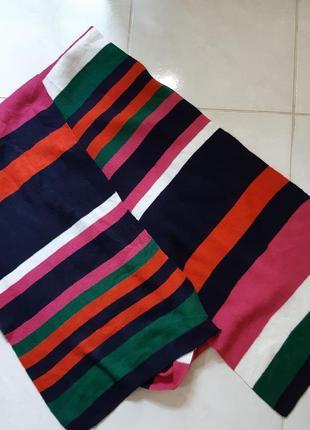 Яркий шарф в полоску для унылой поры года, tu