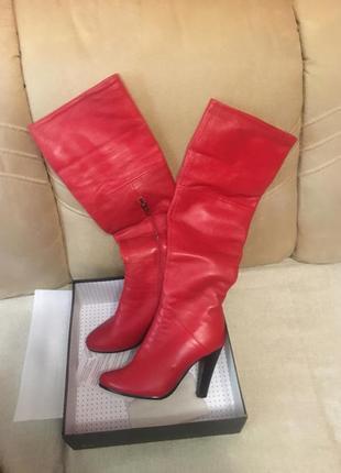 Шкіряні  стильні чоботи