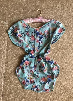 Цветная блузка/ сводный крой