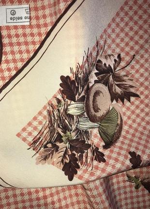 Шелковый платок/ натуральный шёлк / осенний принт
