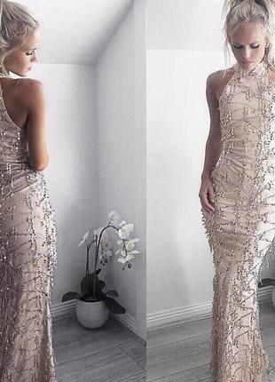 Платье длинное паетки