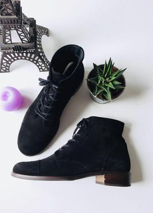 Демисезонные замшевые ботинки на шнурках от paul green