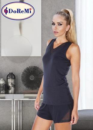 Doremi black booster комплект: майка и шорты