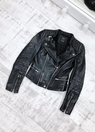 Косуха натуральная кожа кажанка куртка кожаная zara5 фото