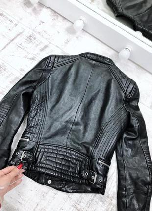 Косуха натуральная кожа кажанка куртка кожаная zara7 фото