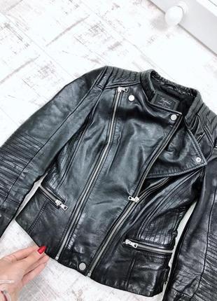 Косуха натуральная кожа кажанка куртка кожаная zara6 фото