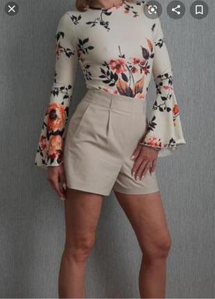 Боди- блузка в цветочный принт missguided