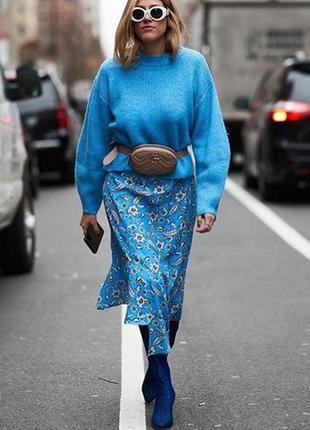 Очень красивый пушистый свитер  кокон с длинным ворсом h&m
