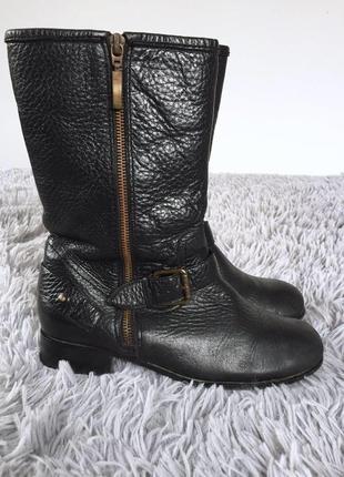 Демисезонные кожаные ботинки полусапожки на молнии3 фото