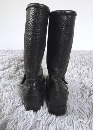 Демисезонные кожаные ботинки полусапожки на молнии4 фото