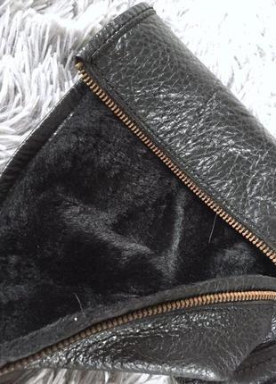 Демисезонные кожаные ботинки полусапожки на молнии5 фото