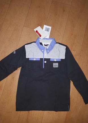 Новая трикотажная рубашка поло chicco 110