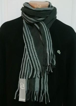 Классический мужской полосатый шарф1 фото