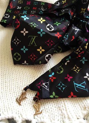 Louis vuitton replica _чорний атласний шарф