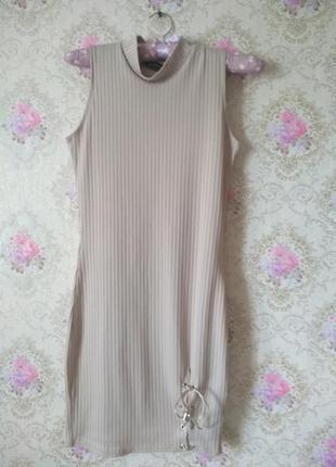 Мини платье по фигуре со шнуровкой снизу boohoo