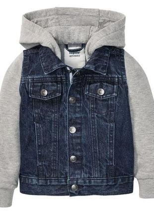 Трендова джинсова куртка з капюшоном для хлопчика lupilu®, р. 104