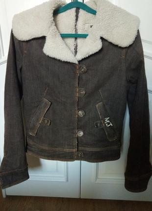 Moschino jeans оригинал  куртка теплая люкс бренд дизайнерская