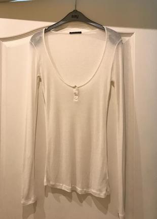Базоввя кофточка, лонгслив, футболка с длинным рукавом sisley, s